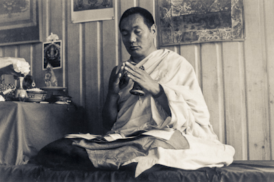 Lama Yeshe in Waikanae, New Zealand, 1975. Photo: Ecie Hursthouse.