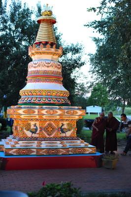 Lama Zopa Rinpoche, Kadampa stupa, USA, August 2016. Photo: Ven. Lobsang Sherab.
