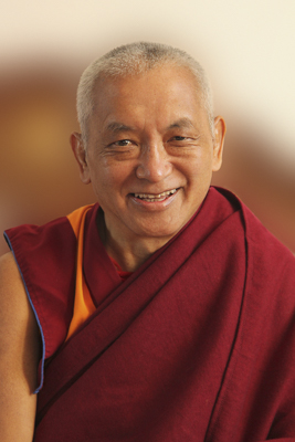 Portrait of Kyabje Zopa Rinpoche, 2010. Photo by Roger Kunsang.