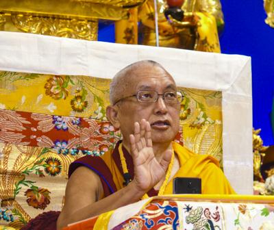 Lama Zopa Rinpoche, Deer Park 2008. Photo: Kalleen Mortensen.