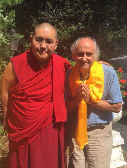 Ling Rinpoche with Nick Ribush, Lincoln, MA 2016