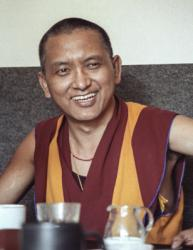 Lama Zopa Rinpoche, Switzerland, 1990. Photo: Ueli Minder.