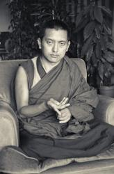 Portrait of Lama Zopa Rinpoche, Geneva, Switzerland, 1983. Photo by Ueli Minder.