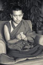 (02404_ng.JPG) Portrait of Lama Zopa Rinpoche, Geneva, Switzerland, 1983. Photos by Ueli Minder.