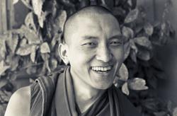 Lama Zopa Rinpoche in Tarzana, California, 1975. Photo: Carol Royce-Wilder.