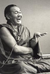 Lama Yeshe at University of California, Santa Cruz, USA, 1978. Photo: Jon Landaw.