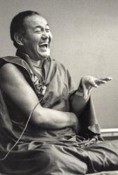 Lama Yeshe at University of California, Santa Cruz, USA, 1978. Photo: Jon Landaw.