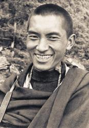 Lama Zopa Rinpoche at Lawudo Retreat Centre, Nepal, 1970.