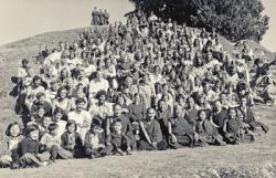 Group portrait at the Fifth Meditation Course, Kopan Monastery, Nepal,  Nov-Dec 1973.