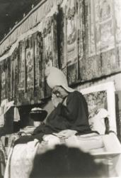 Lama Zopa Rinpoche at Kopan Monastery, 1987. (Photographer unknown)
