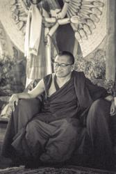 Lama Zopa Rinpoche at Chenrezig Institute, Australia, 1991. Photo: Thubten Yeshe
