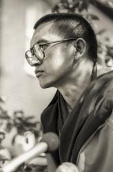 Lama Zopa Rinpoche at Manjushri London (Jamyang Buddhist Centre), 1983. Photo: Robin Bath.