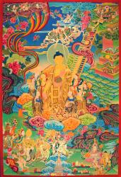 Shakyamuni Buddha descending from Tushita.