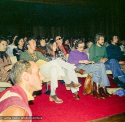 (15972_ng.tif) The audience at a public talk by Lama Yeshe (with Nick Ribush in the foreground left), Adyar Theater, Sydney, Australia, 8th of April, 1975.