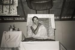(15978_ng.tif) Lama Zopa teaching, 1975. From the collection of images of Lama Yeshe, Lama Zopa Rinpoche and their students during a month-long course at Chenrezig Institute, Australia.