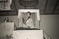 (15980_ng.psd) Lama Zopa teaching, 1975. From the collection of images of Lama Yeshe, Lama Zopa Rinpoche and their students during a month-long course at Chenrezig Institute, Australia.