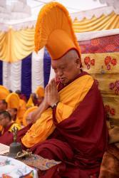 Lama Zopa Rinpoche, Boudha Stupa, Nepal, 2017. Photo: Bill Kane.