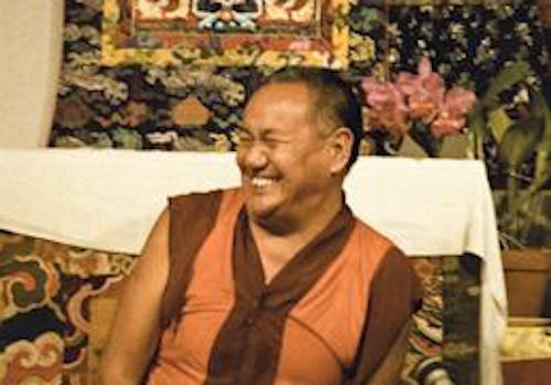 Lama Yeshe teaching at Vajrapani Institute, California, 1983. Photo: Carol Royce-Wilder.