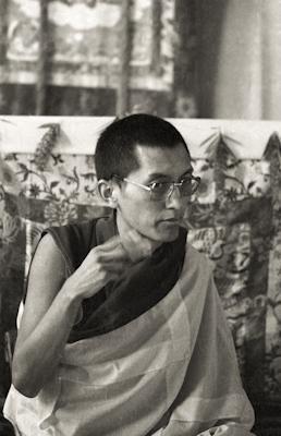 Lama Zopa Rinpoche teaching at the Ninth Meditation Course, Kopan Monastery, Nepal, 1976.