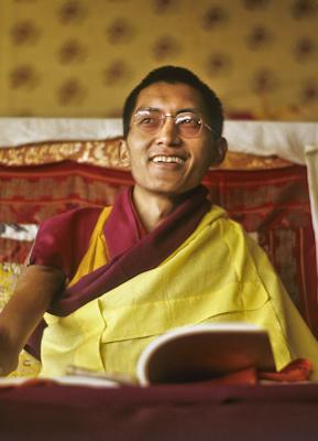 Lama Zopa Rinpoche teaching at Kopan Monastery, Nepal, 1974. Photo: Wendy Finster.