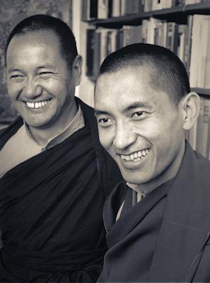 Lama Yeshe and Lama Zopa Rinpoche, New Zealand, June 1975.