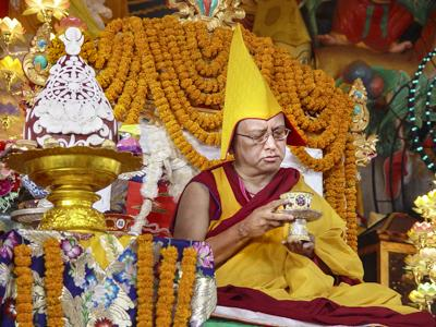Lama Zopa Rinpoche, Long Life Puja, Kopan Monastery, Nepal.
