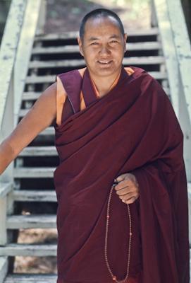 Lama Yeshe, Lake Arrowhead, California, USA, 1975. Photo: Carol Royce-Wilder.