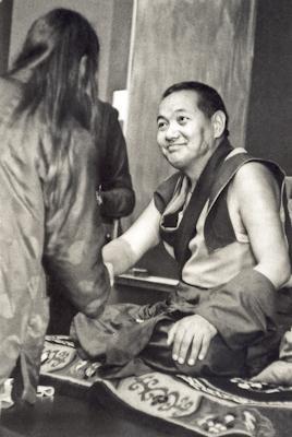 Lama Yeshe in Santa Cruz CA, 1978. Photo: Jon Landaw.