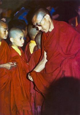 Michael Losang Yeshe with Lama Zopa Rinpoche at Kopan, 1973.