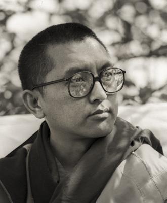 Lama Zopa Rinpoche at Manjushri London (currently Jamyang Buddhist Centre), 1983. Photo: Robin Bath.