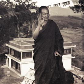 Lama Yeshe on the hill above Kopan Monastery, Nepal, 1972.