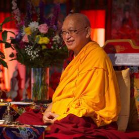 Lama Zopa Rinpoche at Kurukulla Center, Boston, USA. August 2018.  Photo: Amdo GT Photography.